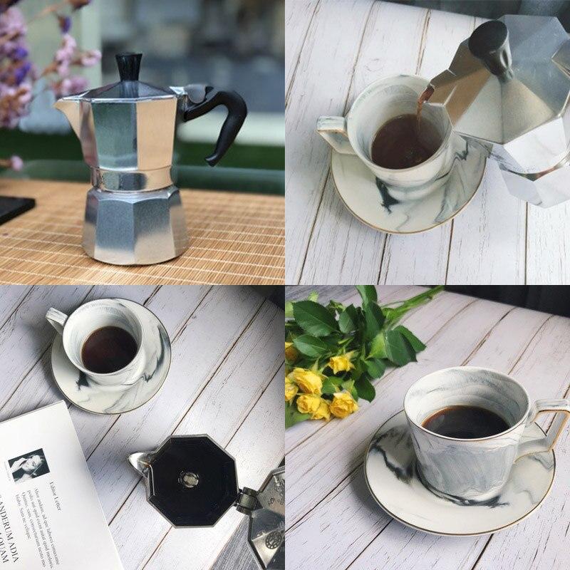 VOCORY Coffee Maker Aluminum Mocha Espresso Percolator Pot Coffee Maker Moka Pot 1cup/3cup/6cup/9cup/12cup Stovetop Coffee Maker 6