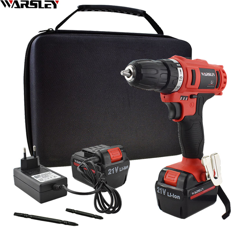21V Hand Electric Drill Power Tools Battery Drill Electric Screwdriver Rechargeable Cordless Drill Mini Drilling Screwdriver 21v power tools double speed hand electric drill cordless drill battery drill electric screwdriver mini drilling 45 n m torque