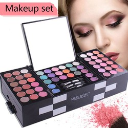 FRESHME 148 Farben Make-Up Set Box Professionelle Glitter Lidschatten-palette Augenbrauen Rouge Pulver Pigment Kosmetik Make-Up Kit Werkzeug