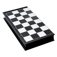 Portable Travel Magnetic Board Wooden Tournament Chess Set Plastic Pieces Kids Gift