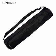 лучшая цена Black Waterproof Yoga Pilates Bag Large Capacity Canvas Yoga Mat Bag Gym Exercise Pad Carrier Backpack Pouch Adjustable Strap