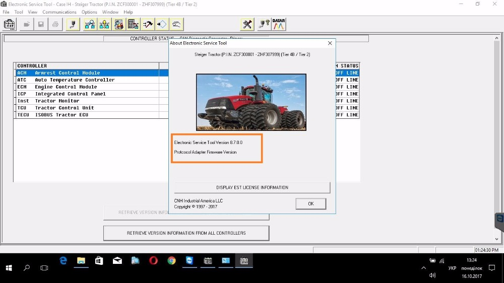 New Holland Electronic Service Tools CNH EST 8 7 Engineering level unexpire Diagnostic Procedures