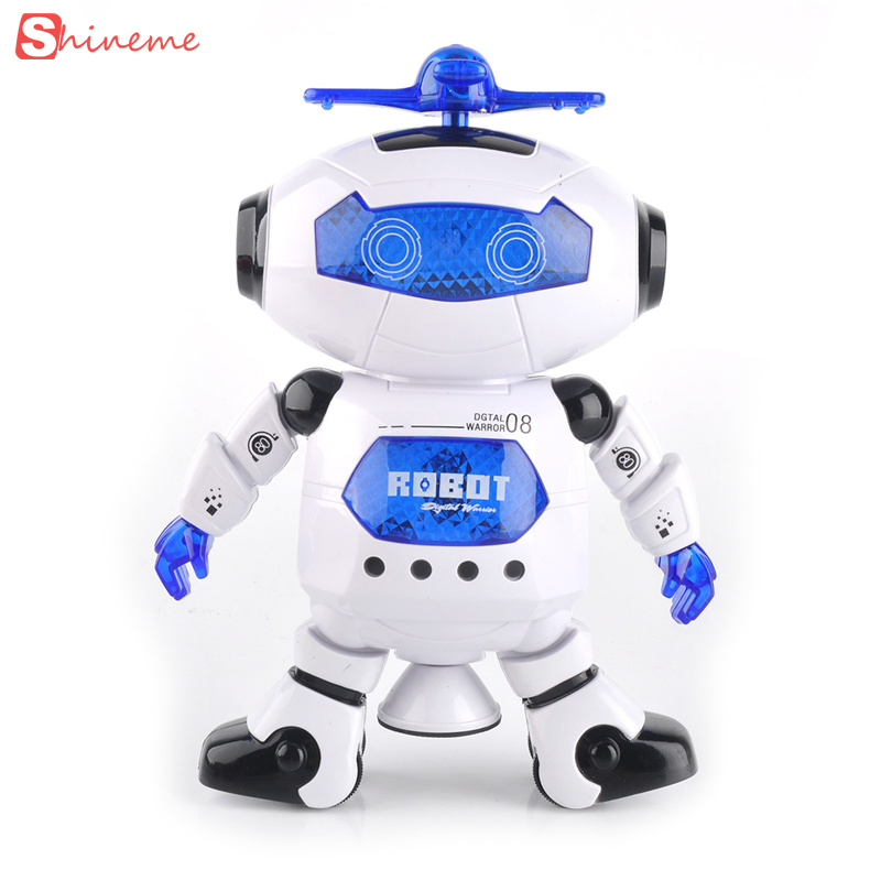 wonderful high quality Smart Space Dance Robot Electronic Walking Toys With Music Light Gift For Kids Astronaut play to Child