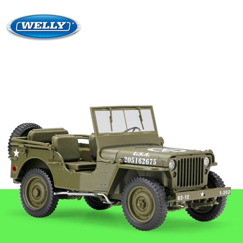 1:18 welly jeep willys mb 합금 다이 캐스트 모델 자동차-에서다이캐스트 & 장난감 차부터 완구 & 취미 의  그룹 1