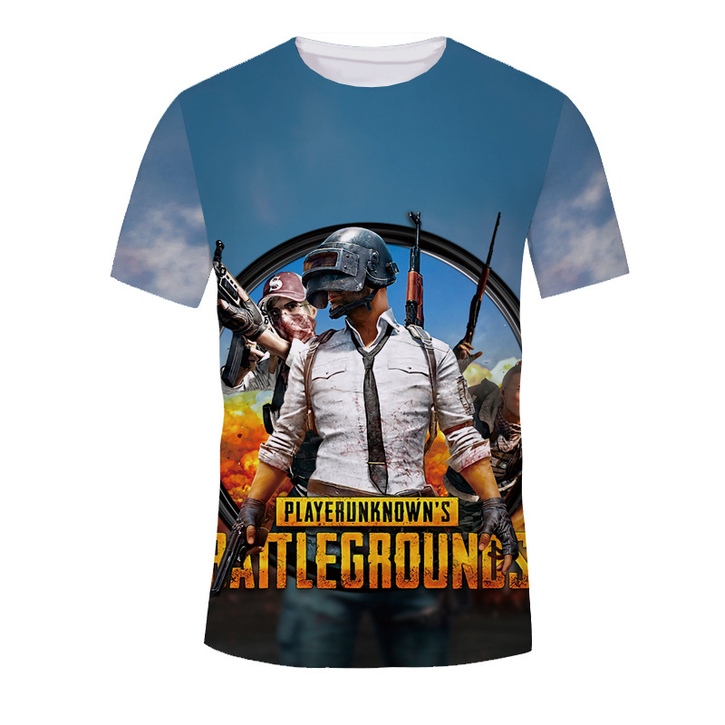 Fashion Game Pubg Playerunknowns Battlegrounds Helmet Printing T Shirt T-shirts Summer Tops Tee Men's Clothing