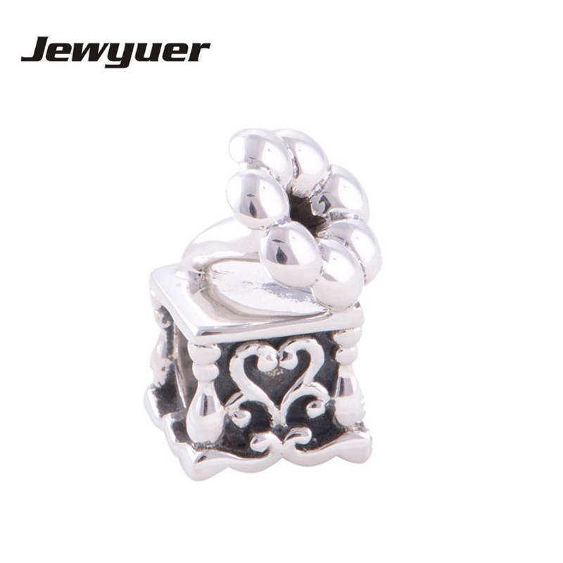 Jewelry & Accessories Memnon Fine Jewelry 925 Sterling Silver Musical Phonograph Charms Beads Fit Bracelets & Bangles Engagement Diy Wholesale T005