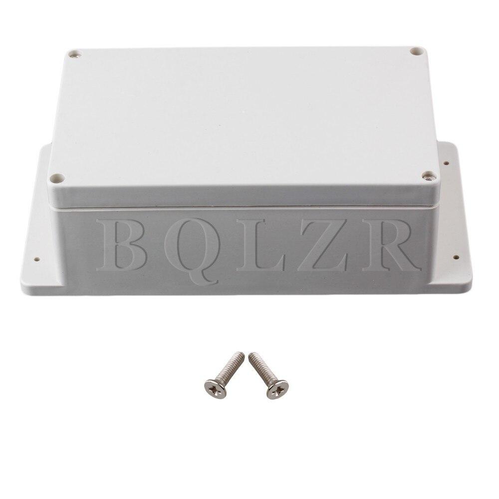 BQLZR 24x12x7.5cm White Gray Waterproof Plastic Electric Junction Project Box bqlzr diy 9 1x10x5cm black plastic left