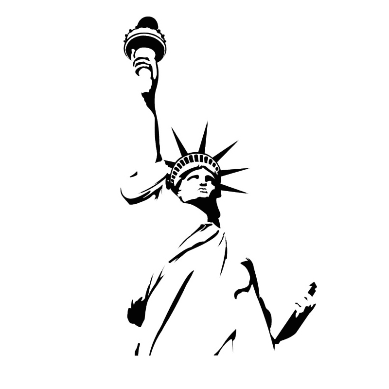 Aliexpress.com : Buy QT031 Statue Of Liberty Wall Sticker New York City  Symbolic Room Decorative Wall Decal Vinyl Removable Wall Stickers Home  Decor From ... Part 33