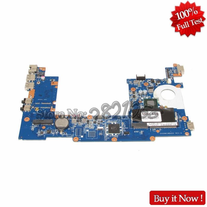 NOKOTION 650739-001 DA0NM1MB6D0 Main baord For HP MINI 110 Laptop motherboard N570 CPU laptop motherboard for hp cq10 mini210 110 664335 001