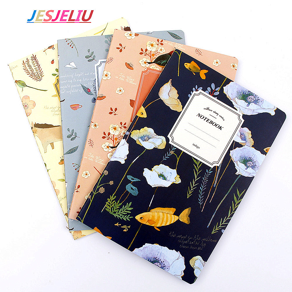 A5 32 Pages Planner Nature Animal Plant Notebook Notepad Diary Journal Office School Gift For Kids Student 80 pages note for nature poems flamingo peafowl blank page notebook journal diy diary notepad