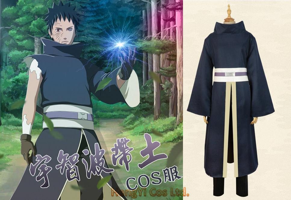 Uchiha Obito Cosplay Long Sleeves Black Cloak Mask Accessories 7Pcs Set Anime Cosplay Set Halloween Cos Naruto Cosplay Costumes