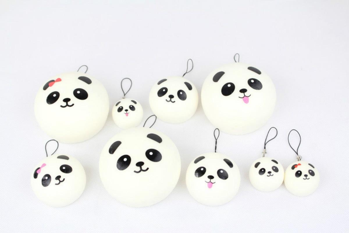 Luggage & Bags 7cm Key/bag Strap Pendant Squishes Bag Accessories Jumbo Panda Charms Kawaii Buns Bread Cell Phone