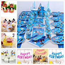 Mickey Mouse  Minnie Cupcake Toppers pick Party Supplies Kids Birthday Party wedding cake flag Decorations Paper cupcake cake 24pcs lot cartoon easter bunny flowers cupcake toppers cute white rabbit cake pick hat party decorations baby birthday wedding