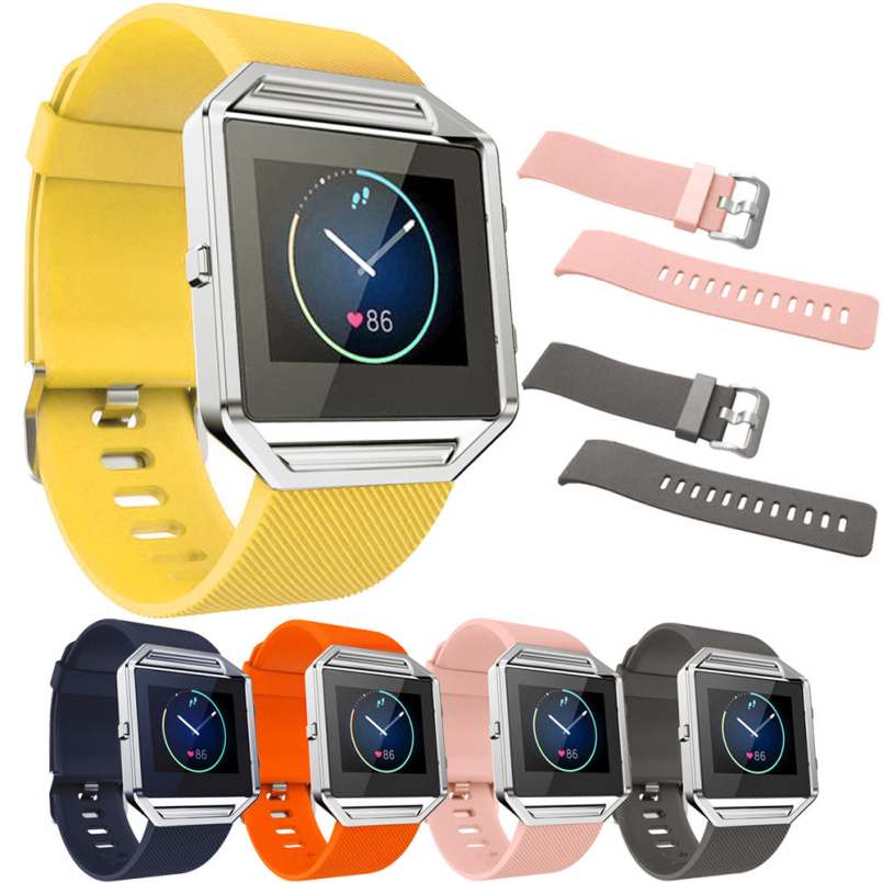 Excellent Quality New Large Size Various Colors Soft Silicone Watch Band Wrist Strap For Fitbit Blaze Smart Watch superior nylon watch band wrist strap steel metal frame for fitbit blaze smart watch dec 12
