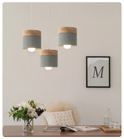 Nordic Creative Restaurant Pendant Light;Colour Dining Room Lamp;Modern Simple Solid Wood Living Room Pendant Ligh;Bar Oak light