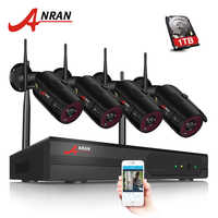 ANRAN CCTV Camera System Wifi 1080P NVR Kit 4CH 1080P HD IP Camera Outdoor Night Vision Security Camera System