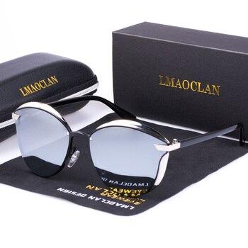 Женские дизайнерские солнцезащитные очки «кошачий глаз» LMAOCLAN