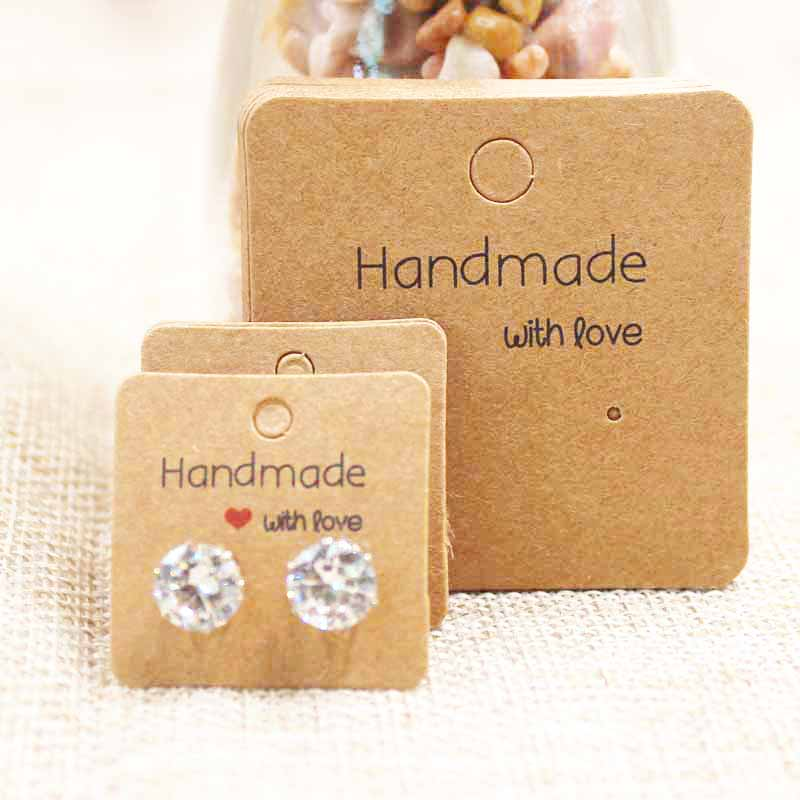 Mulit size DIY handmade  jewelry earring packing card cute stud/drop earring display card 100pcs per lot(China)
