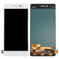For OPPO R7 Full LCD Display With Touch Screen Digitizer Assembly Replacement Parts Mobile Phone LCD Complete 5.0 inch White