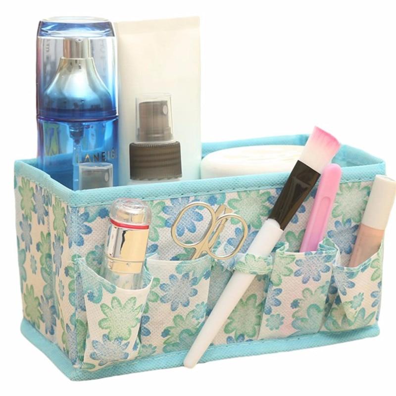 2017 New Cheap Multi Functional Make up Organizer Bag New Makeup Cosmetic Storage Box Bag Bright Organiser Women Cosmetic Bags