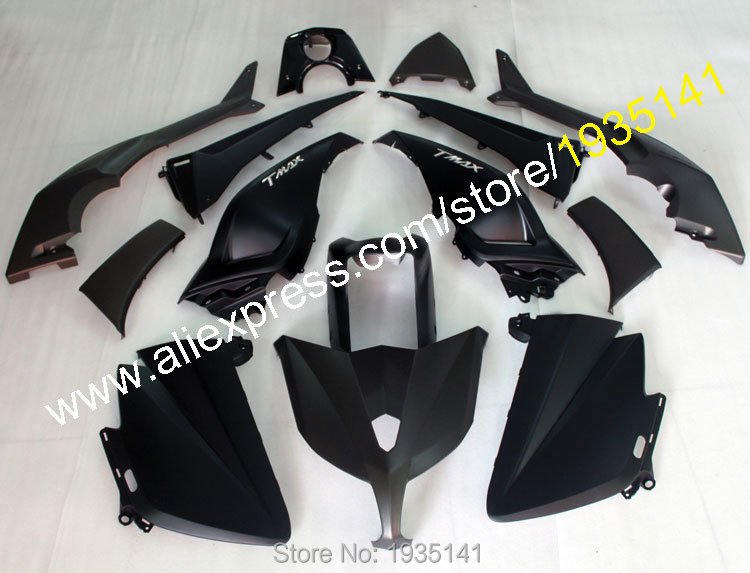 Hot Sales,For Yamaha TMAX530 Parts 2012-2014 TMAX 530 12-14 TMAX-530 Motorbike full black body kit fairing (Injection molding) hot sales cheap price for yamaha tmax 530 2012 2014 t max 530 tmax530 matte black sport bike abs fairing injection molding
