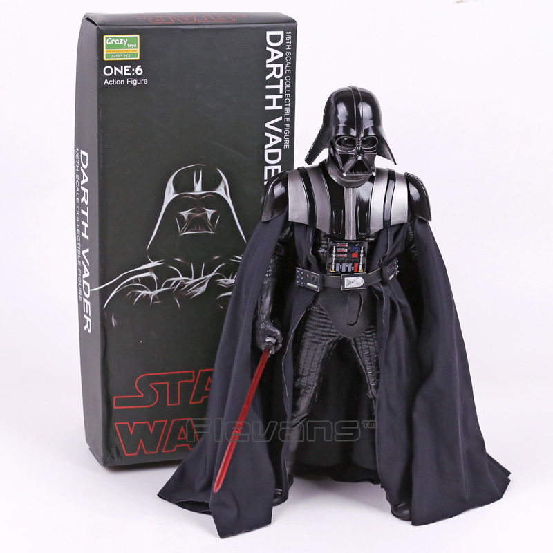 Crazy Toys Star Wars Darth Vader 1/6 th Scale PVC Action Figure Collectible Model Toy 12inch 30cm crazy toys variant 1 6 scale painted figure x men real clothes ver variable doll pvc action figures collectible model toy 30cm