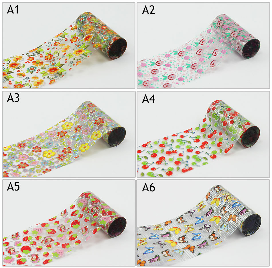 Stickers decals nail stickers nail art decals fashion - Aliexpress Com Buy 6 Rolls Lot Flowers Fruit Animal Decal Nail Stickers Flower Sexy Foils Sticker Nail Art Decorations Transfer Tools A01 A06 From