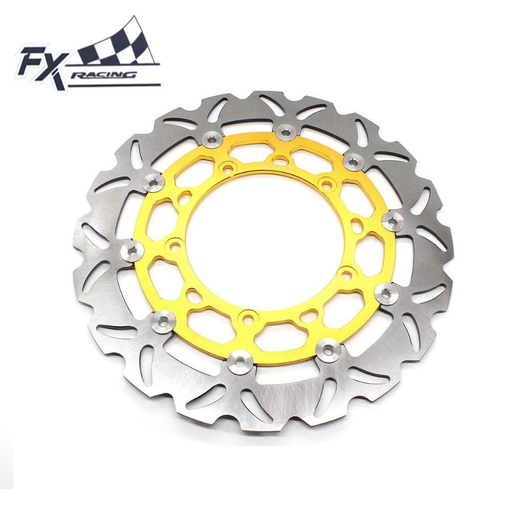FX Aluminum+Stainless Steel Motorcycle 320mm Floating Front Brake Disc Rotor For Yamaha YZF R25 R3 2015-2016 Moto Accessories fxcnc motorcycle brake disc 300mm floating front brake disc rotor for yamaha yzf r15 2015 motorbike front brake disc rotor