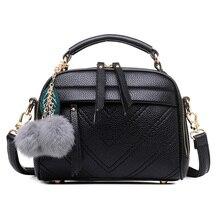 Neue Mode Frauen Tasche Haar Ball Handtasche Hohe Qualität PU Leder Schulter Messenger Bags tote
