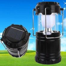 Outdoor LED Solar Energy Camping Light Built In Battery Rechargable LED Lantern Emergency Lighting Handed Solar Lamp