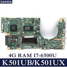 KEFU K501UX Laptop motherboard for ASUS K501UB K501UX K501U K501 Test original mainboard DDR3-4G RAM I7-6500U GT940M