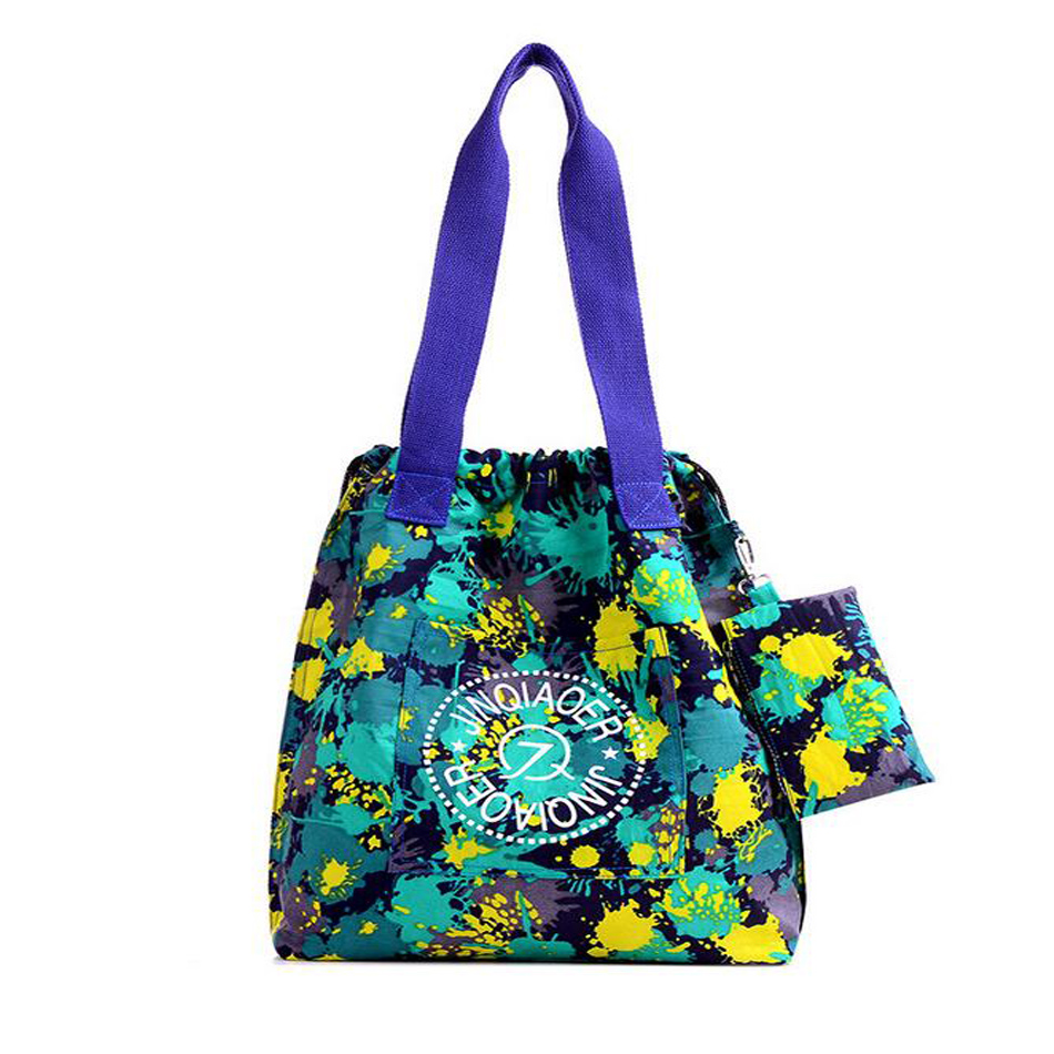 JJINQIAOER Brand Waterproof Nylon Handbags Casual Tote Women's Shoulder Bags Female Cloth Handbags Bolsas Kiple Style