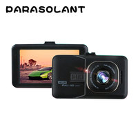 PARASOLANT 120 Wide Angle Car Recorder Full HD 1080P Dash Cam Loop Recorder English Russian Dashcam