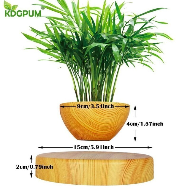 EU/US/AU Plug Levitating Air Bonsai Pot Magnetic Levitation Plants Planter Flower Pots Potted Succulent Plant Home Office Decor 2