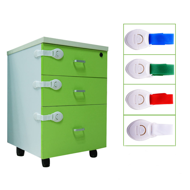 Baby Safety Protection Cabinet Locks Children Monitor Belts Drawer Plastic Lock Lengthened Bendy Toilet Door Window Refrigerator