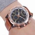 Moda MILER Marca Homens Relógios Pulseira De Couro Casual Do Esporte Dos Homens Relógio de Quartzo relogio masculino Relógio de Pulso à prova d' água