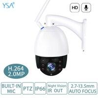 Wireless PTZ 5X Dome IP Camera Outdoor 1080P HD Zoom Security Video Cam CCTV Surveillance Camera Wifi 2.7 13.5mm Auto Focus lens