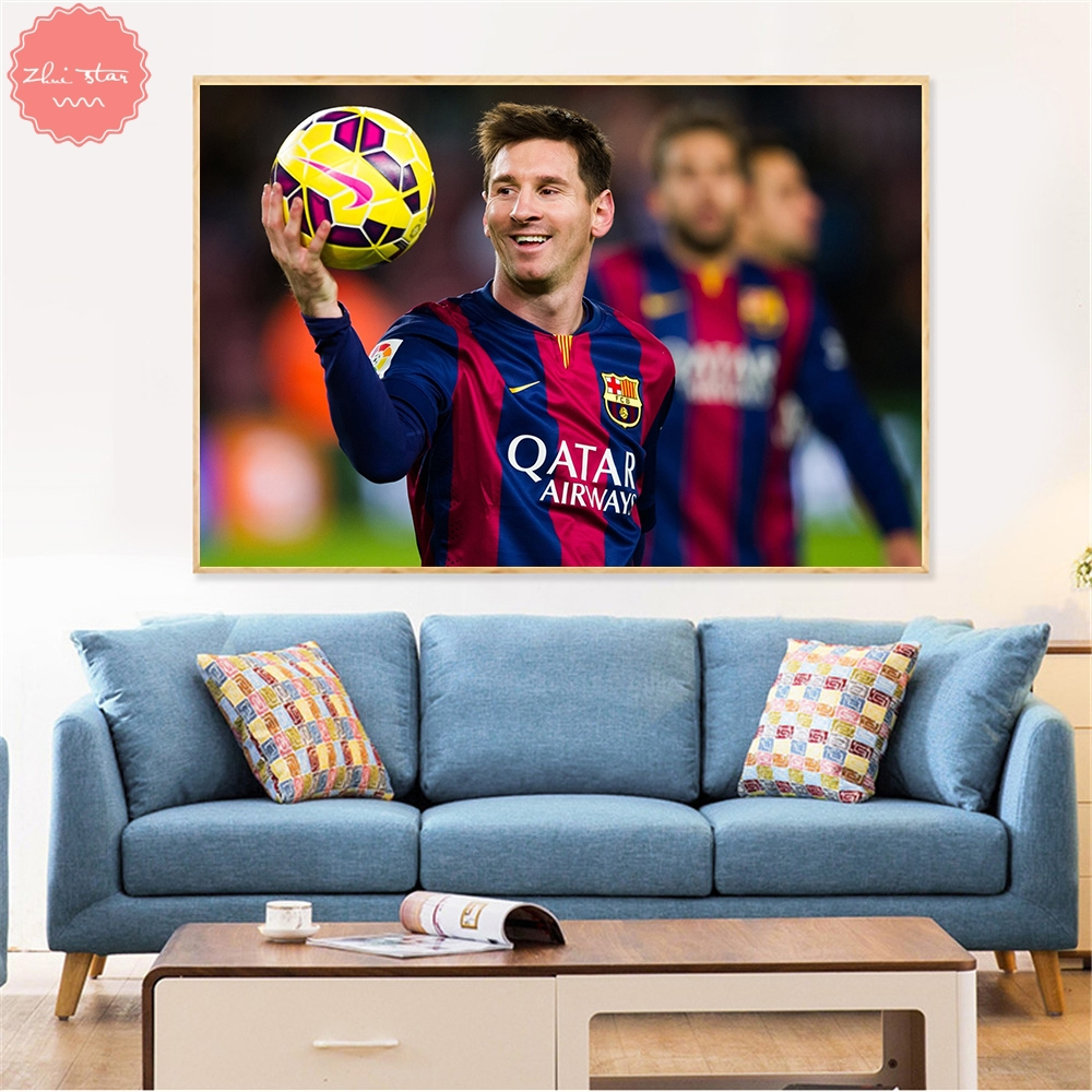 Detail feedback questions about diamond painting cross stitch football star messi diamond embroidery rhinestones pictures diamond mosaic decoration maison