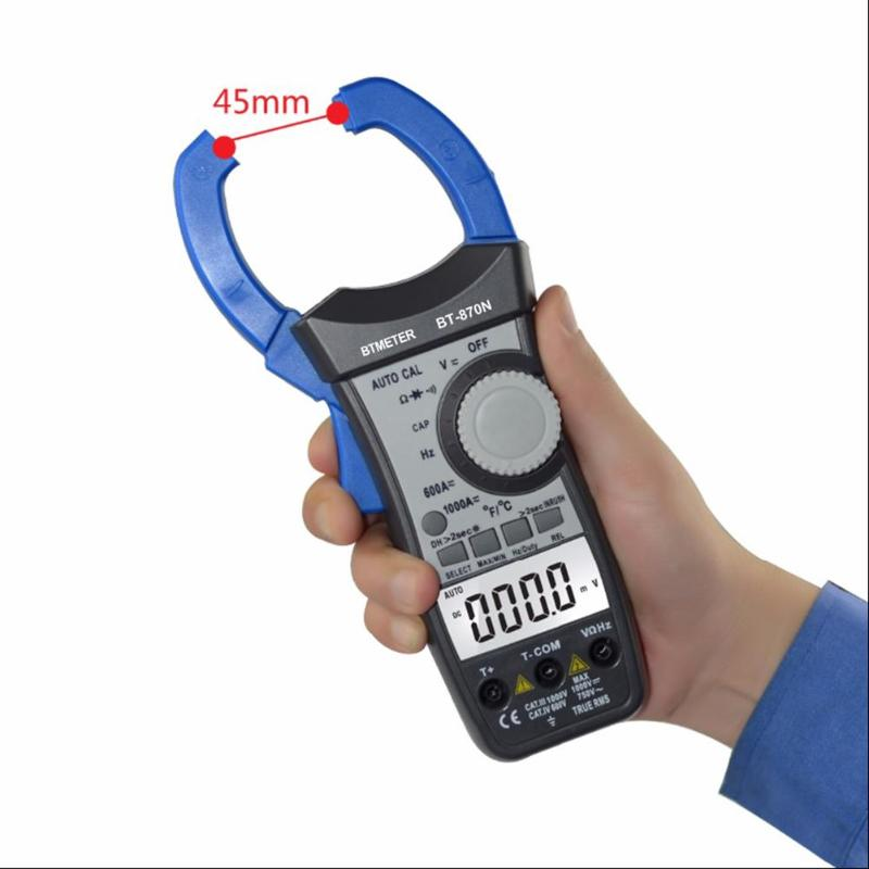 Professional High Quality BTMETER BT-870N Digital Clamp Meter AC/DC Voltage Current Multimeter DMM ResistanceTester Instrumentat аккумулятор для телефона pitatel seb tp122