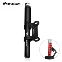 WEST BIKING Aluminum Alloy Bicycle Pump 120 PSI Bike Air Schrader Presta Valve For MTB Road Tire Inflator