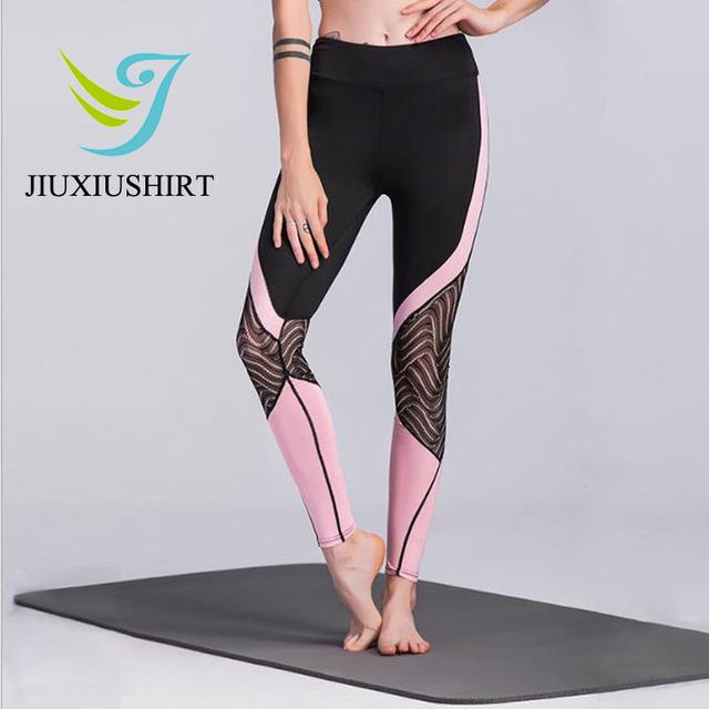 Women Sports Leggings High Waist  Plus Size Fitness Running Yoga Legging S-XL