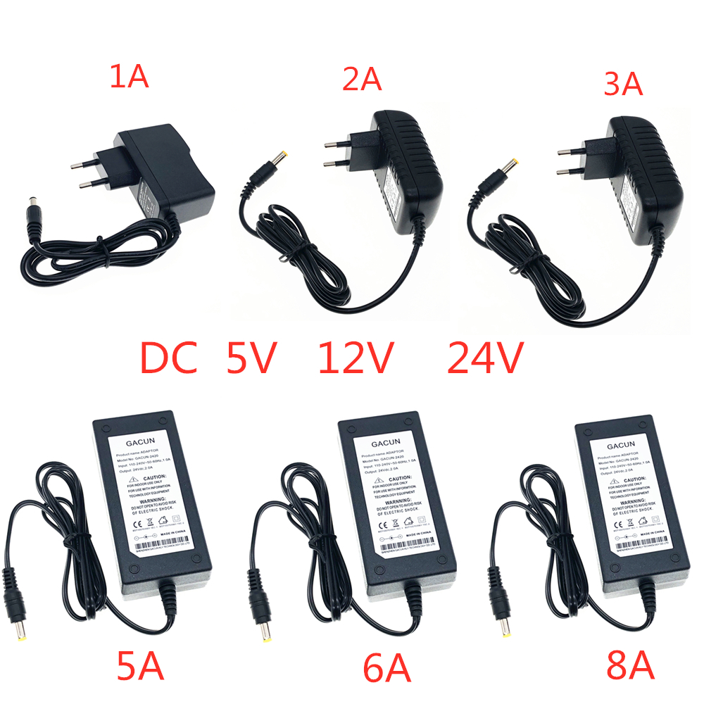 Power Supply DC 5V 12V <font><b>24V</b></font> 1A 2A 3A 5A 6A 8A Power Supply <font><b>Adapter</b></font> DC 5 12 24 V Volt Power Supply <font><b>Adapter</b></font> Lighting Led Strip Lamp image
