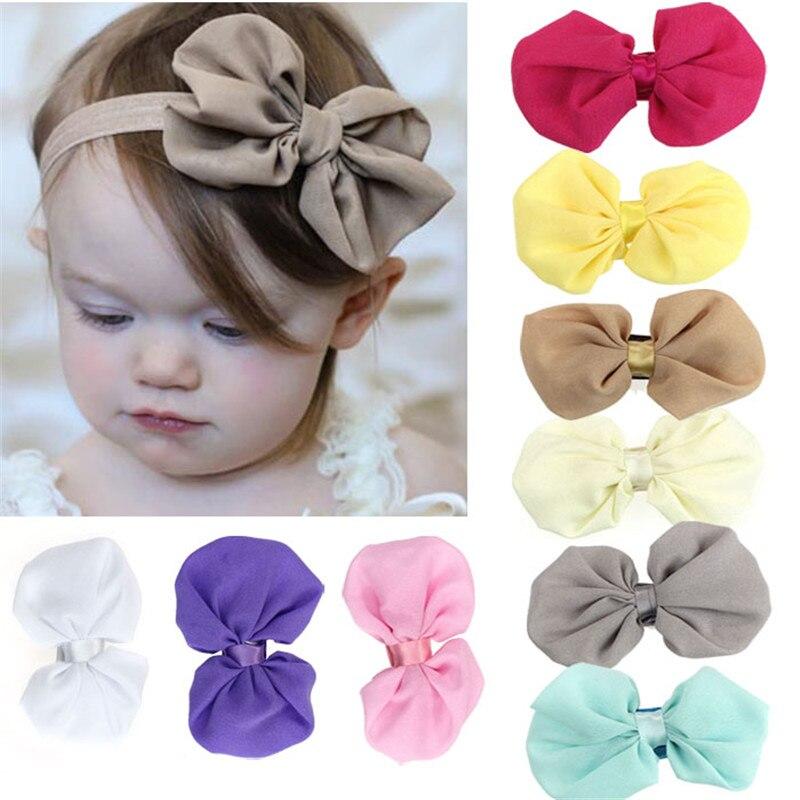 9 StÜcke Set Babys Mädchen Chiffon-blume Elastisches Stirnband Neugeborene Fotografie Zubehör Haarbänder Kinder Kinder Haarnadel # Yy