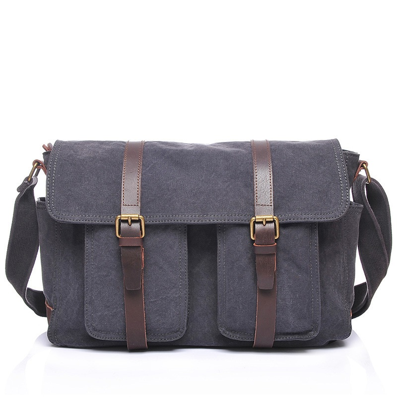 M147 Multifunction Canvas Leather Crossbody Bag Men Military Army Vintage Messenger Bags Large Shoulder Bag Laptop Travel Bags m48 adp atmega48 atmega88 atmega168 tqfp32 avr programming adapter test socket