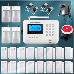 Home alarm system multiple voice wireless gsm alarm system security home with magnetic door sensr motion.jpg 250x250