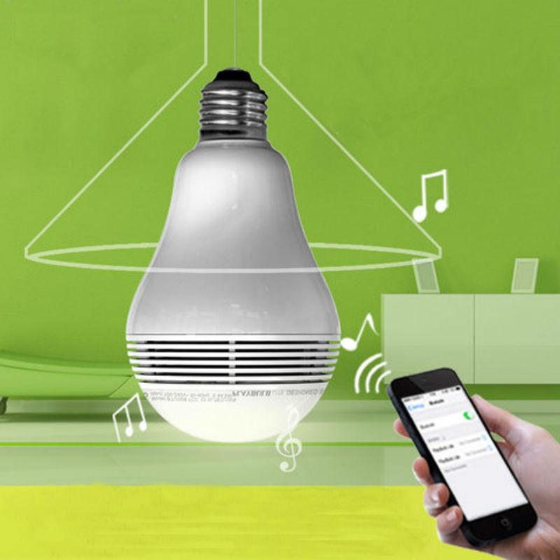 ФОТО Smart Bluetooth 4.0 RGB Colors E27 LED Light Bulb Wireless Music Speaker Lamp free shipping