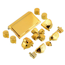 For Playstation 4 Fashion Gold Full Buttons Mod Kits Set Chrome for PS4 Controller Joystick Video Ga