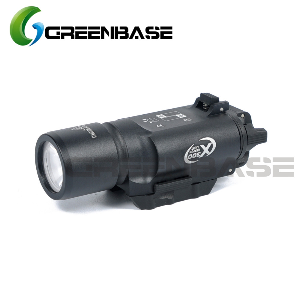Greenbase Tactical Weapon Light SF X300 Hunting Flashlight Airsoft Pistol Scout Light Constant Momentary Output Picatinny