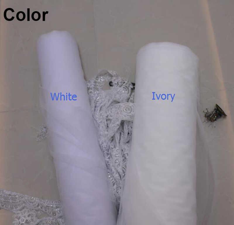 חדש תחרה קצה אחד שכבה קצר רעלה עם מסרק אלגנטי לבן שנהב כלה רעלה Velo Novia כלה אביזרי 2019