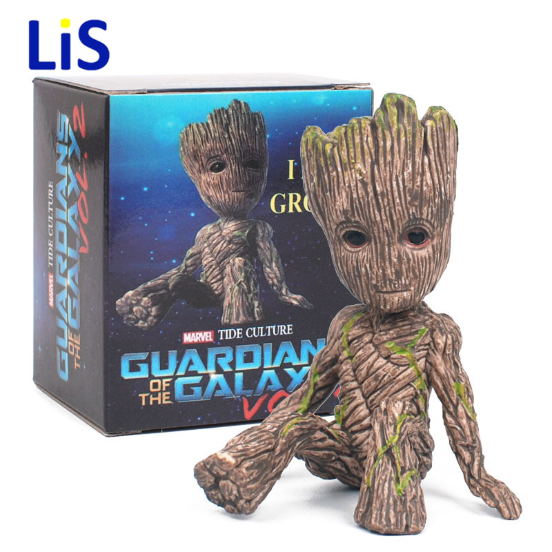 Anime Figure Guardians of The Galaxy 2 Tree Man Baby Sitting Ver Collectible Model Toys Brinqued 6CM